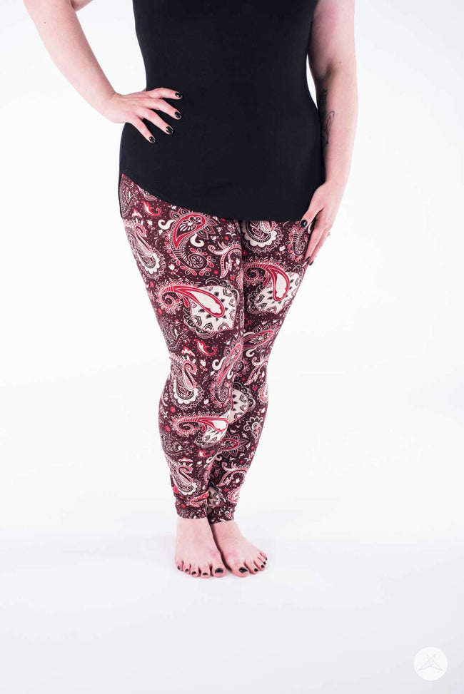 Cinnamon Swirl Plus leggings - SweetLegs