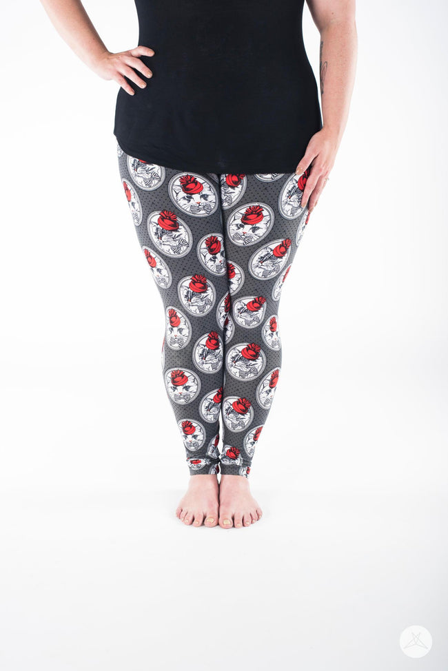 Meow Antoinette Plus leggings - SweetLegs