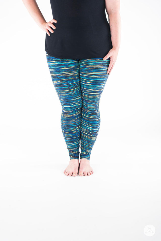 Blue Opal Plus leggings - SweetLegs