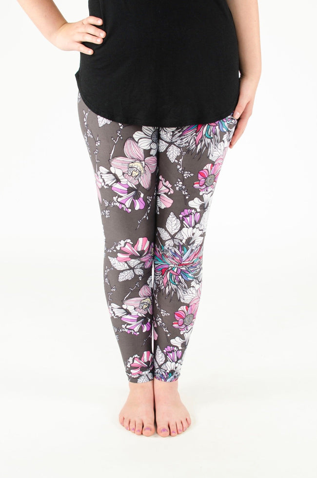 Night Blossom Petite leggings - SweetLegs