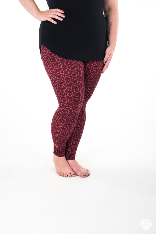 Red Velvet Plus leggings - SweetLegs