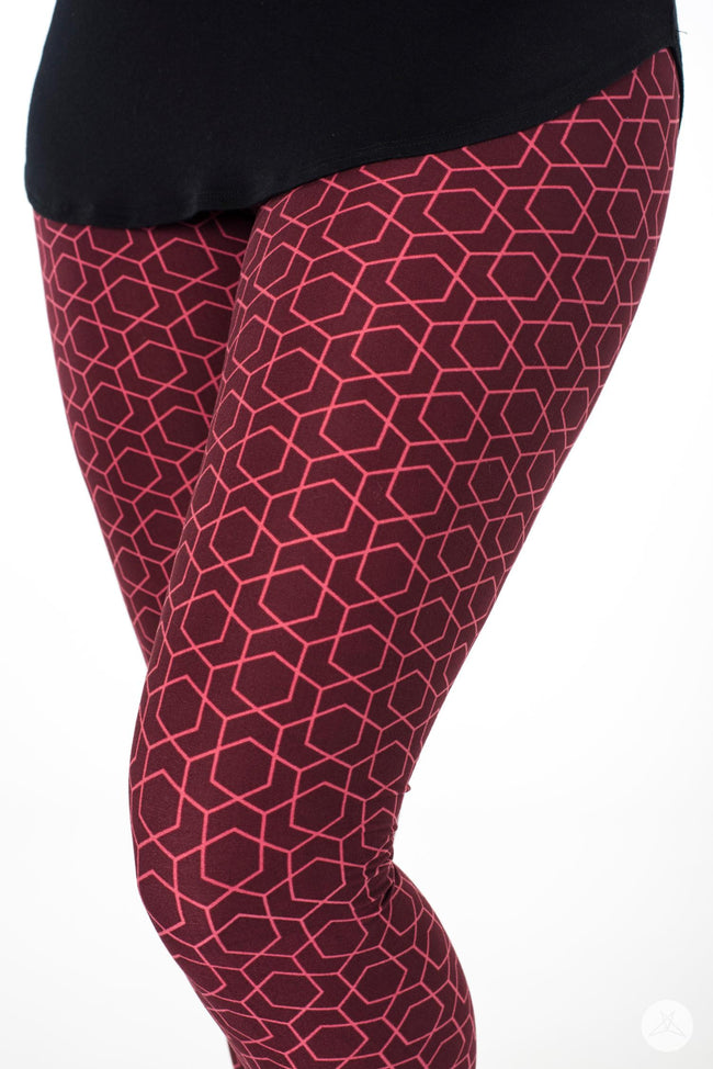 Red Velvet leggings - SweetLegs