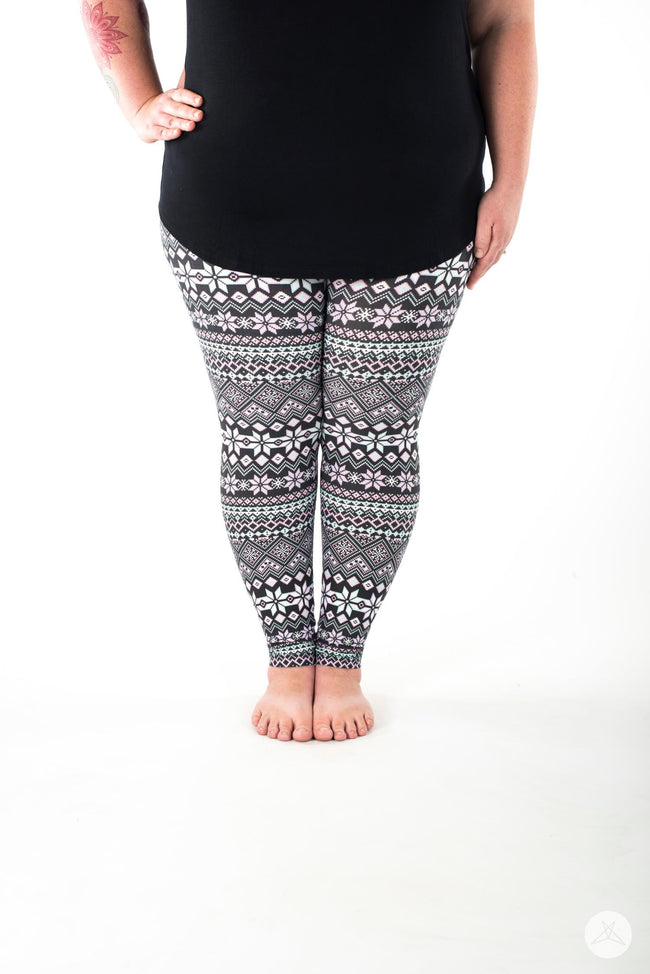 Snow Angel Plus leggings - SweetLegs