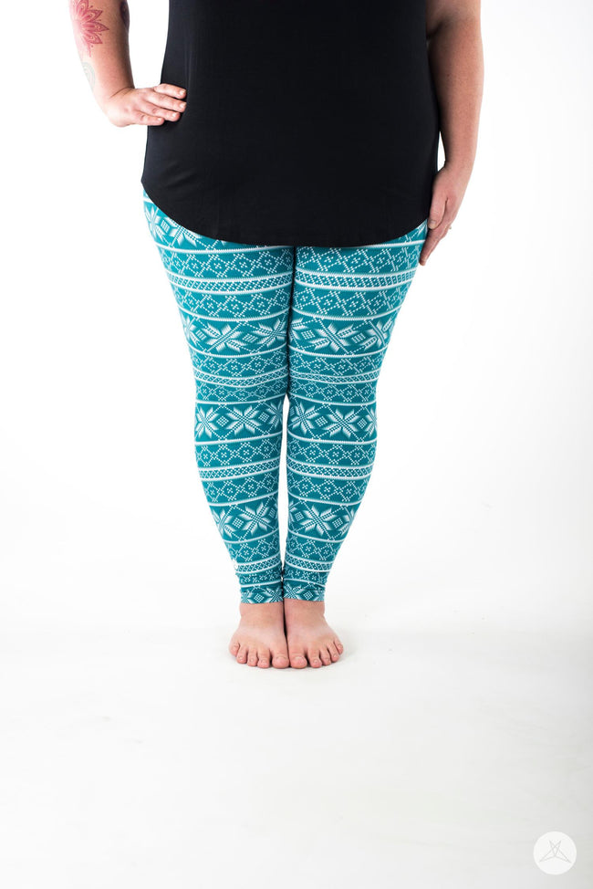 Wintermint Plus leggings - SweetLegs