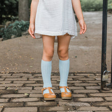 Magnolia Kids x All The Little Bows - Sky Knee Highs + Summer Floral Bow