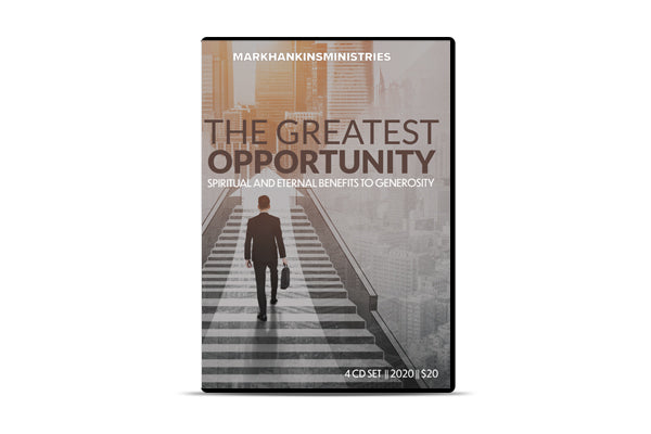 The Greatest Opportunity
