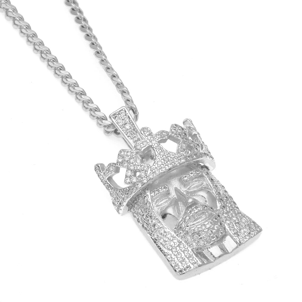 14k white gold jesus head pendant necklace icey jewels 14k white gold jesus head pendant necklace aloadofball Gallery