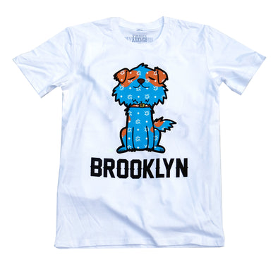 "Brooklyn Mascot T-shirt ""Mr.Littles"" - White"