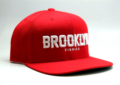 Brooklyn x Vinnies Snapback - Red