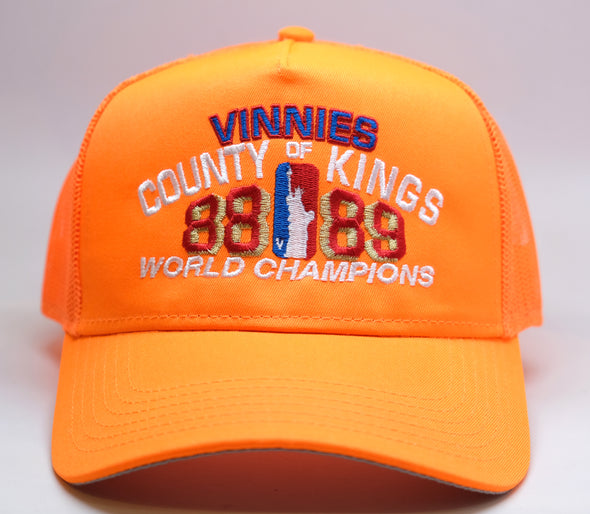 "Vinnies ""County of Kings"" Champions Trucker -Safety Orange"