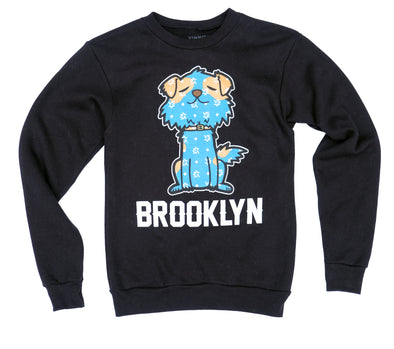 "Brooklyn Mascot Crewneck ""Mr.Littles"" - Black"