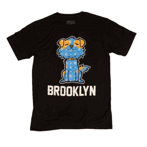 "Brooklyn Mascot T-shirt ""Mr.Littles"" - Black"