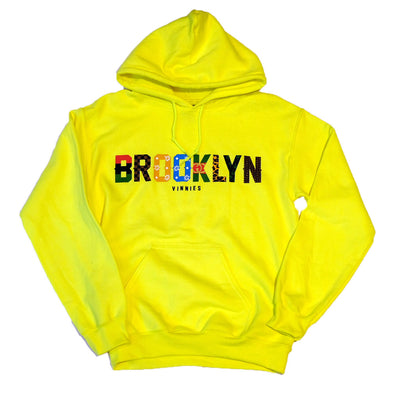 Brooklyn x Vinnies - Pullover- Safety green