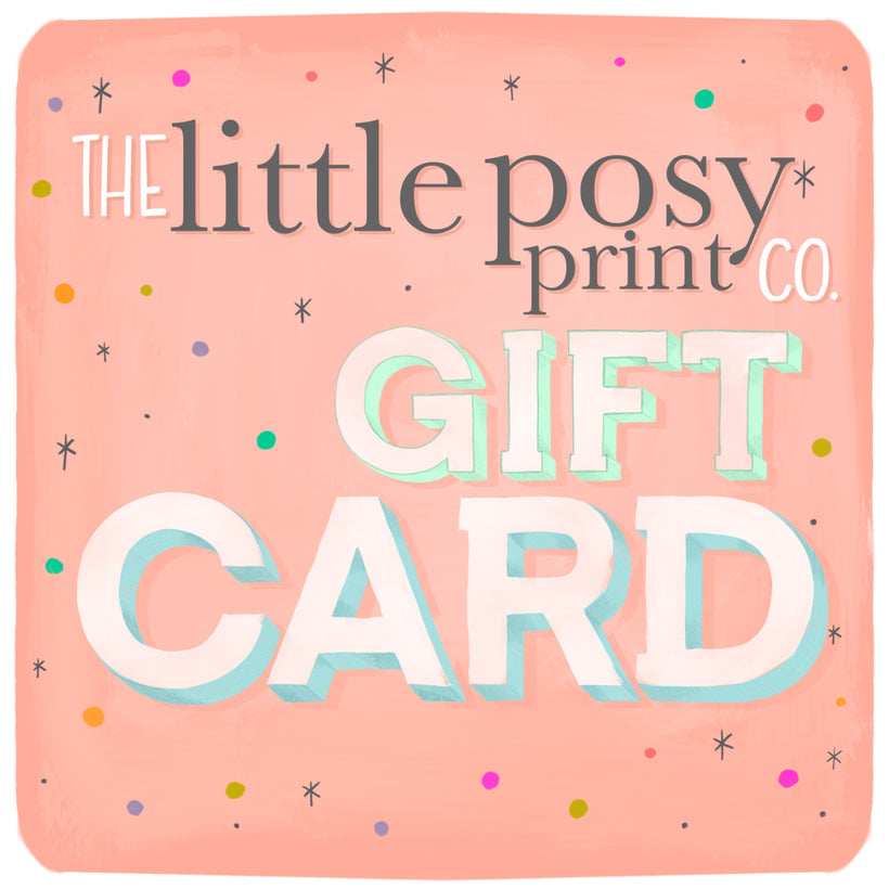 Little Posy print gift card