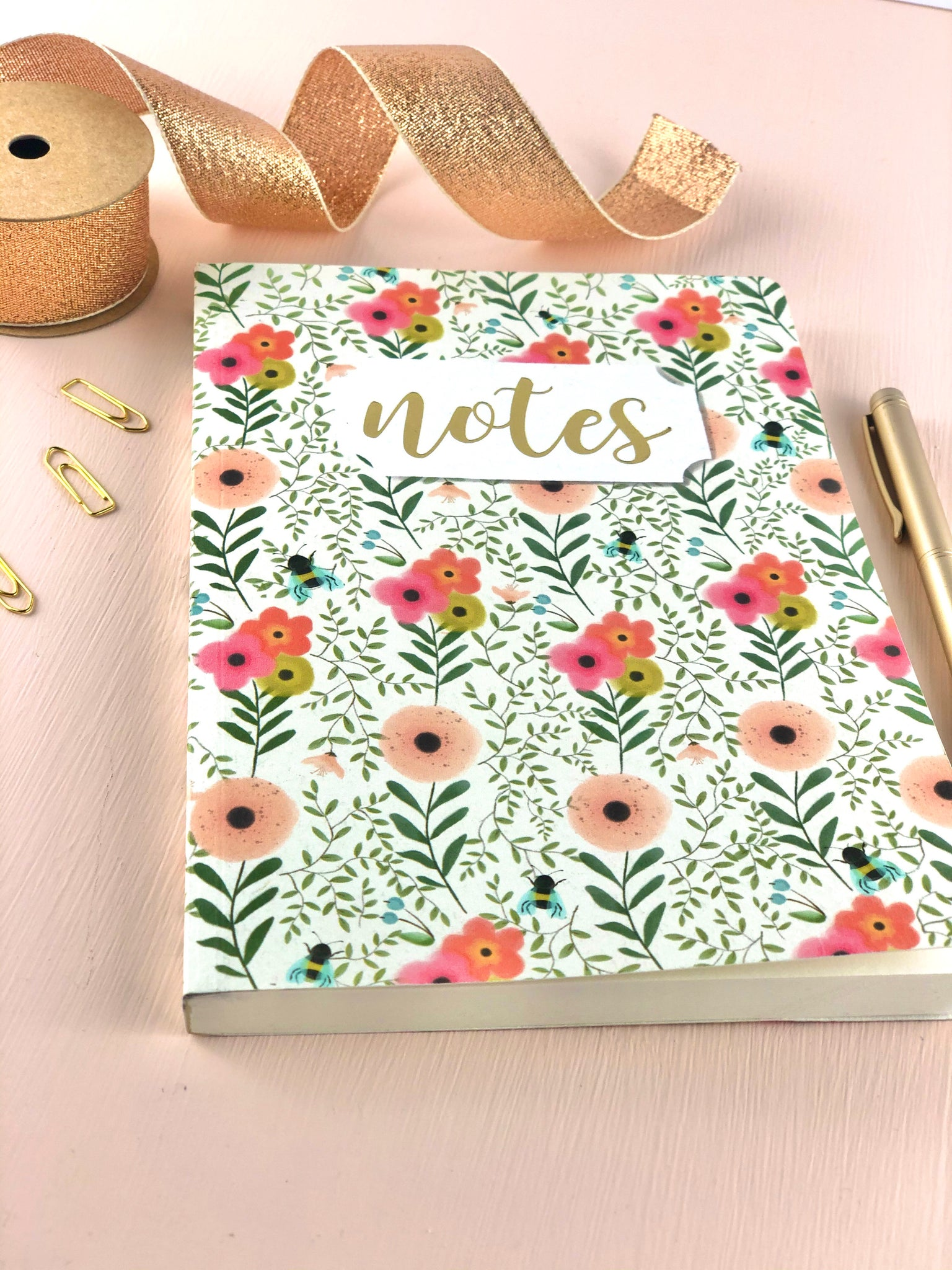 English Country Garden Notebook