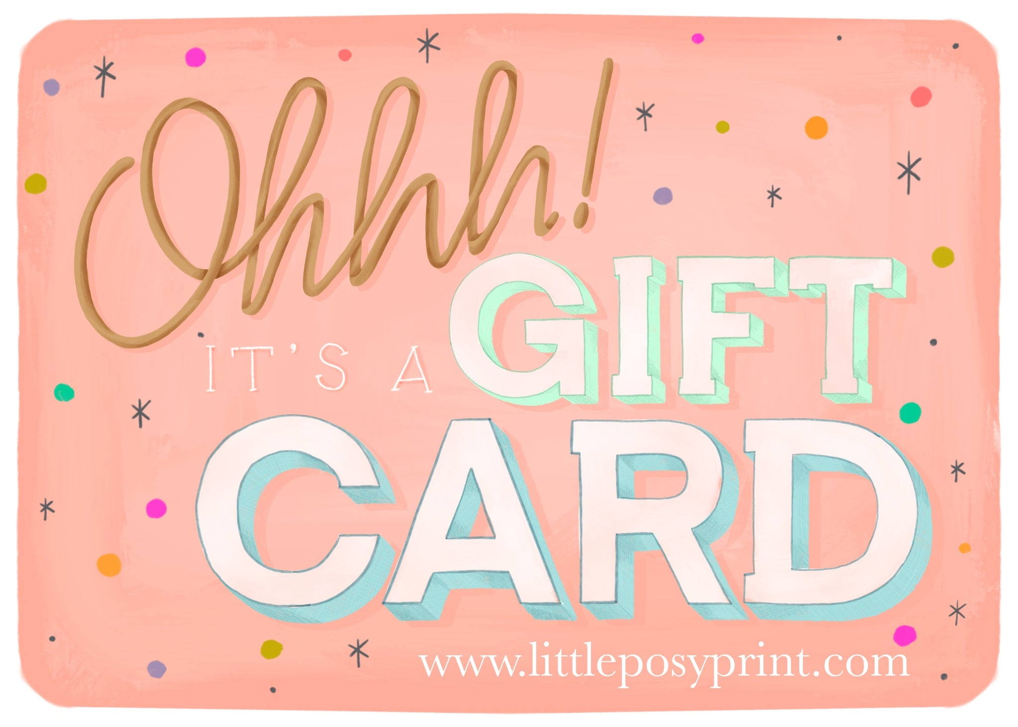 A Little Posy Print Gift Card
