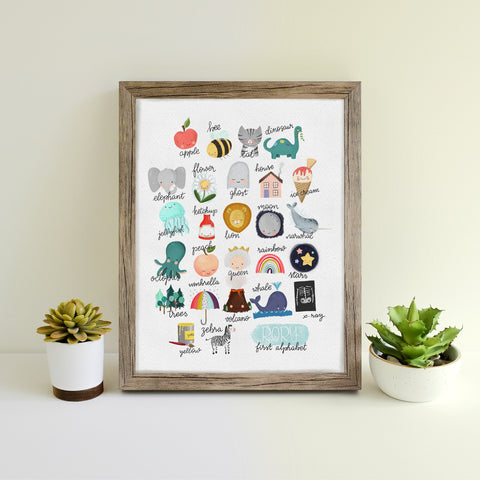 Personalised Hand Illustrated Alphabet