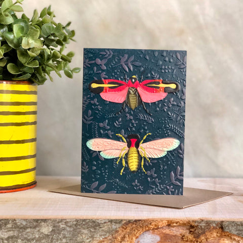 Moths Greeting Notecard