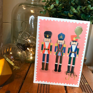 Nutcracker Stamp Christmas card