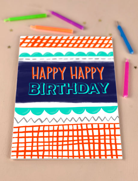 Happy Happy Birthday birthday card