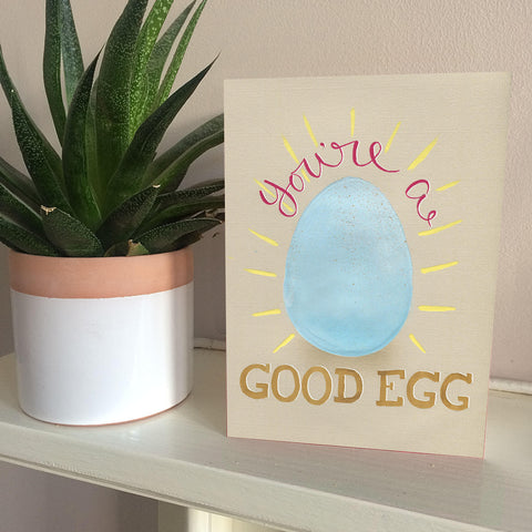 You're a good egg friendship and love card