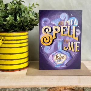 Spell on me valentines and love card
