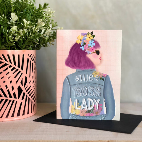 Boss Lady Greeting Notecard