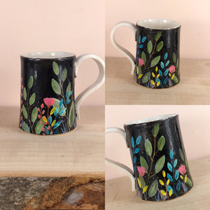 Jungle vibes tropical hand painted mug