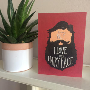 BILF (beard I'd like to fondle)valentines and love card