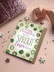 Sprout Lover Christmas card