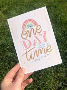 One day at a time Lockdown Card