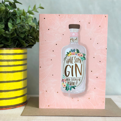 Mother's ruin Gin Mother's Day card