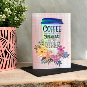 Coffee Cup Greeting Notecard
