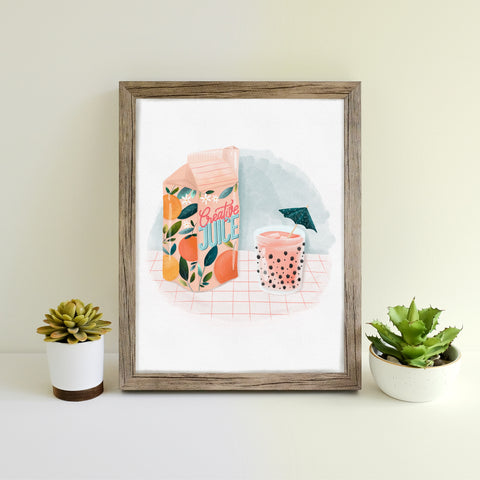 Creative Juice hand illustrated print