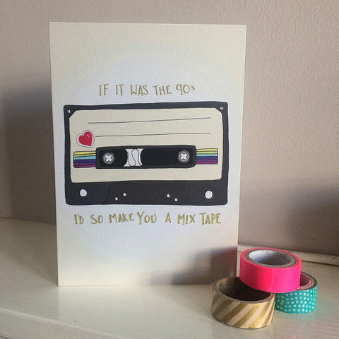 Mix Tape love and valentine card