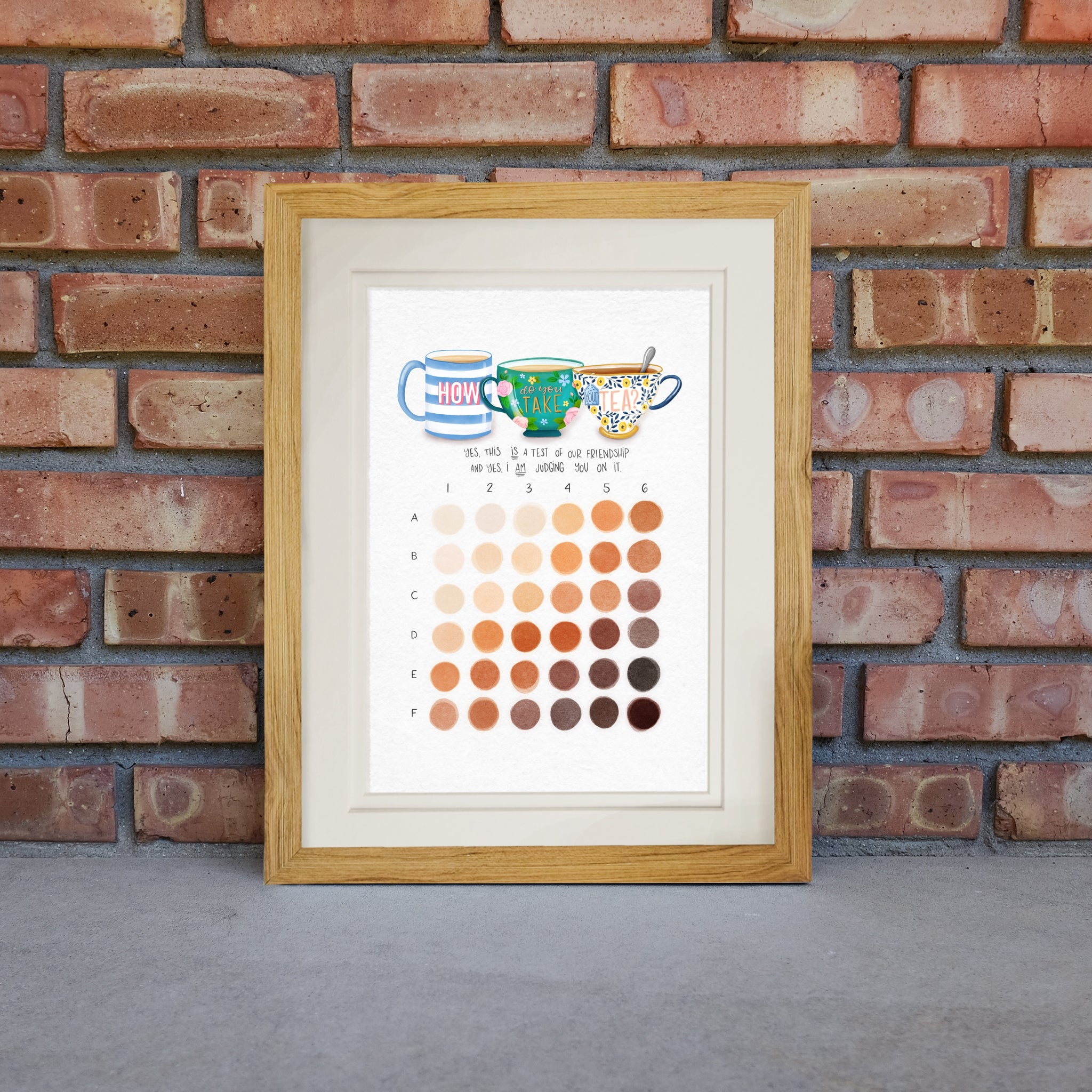 Brew Chart hand illustrated print