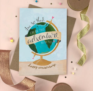 Anniversary Adventure love card