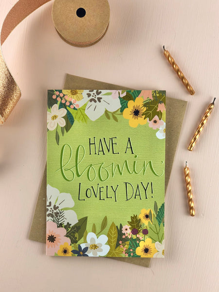 Bloomin lovely birthday card