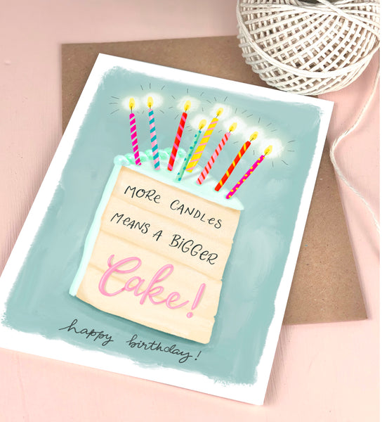 More candles means a bigger cake Birthday Card