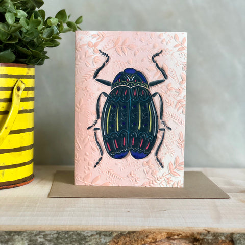 Beetle Greeting Notecard