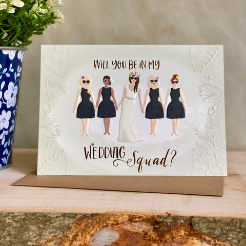 Wedding squad bridesmaid card