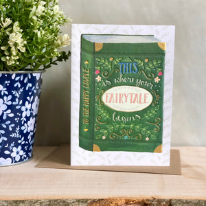 Fairytale wedding card