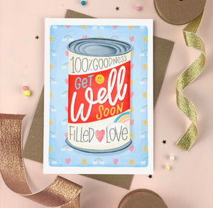Get Well Soon Soup Can Card
