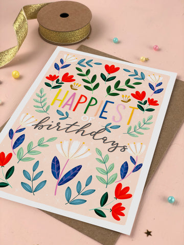 Happiest of Birthdays birthday card
