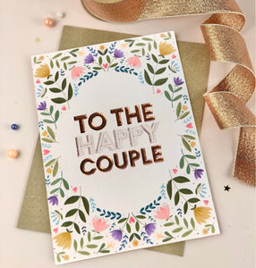 To the happy couple wedding card