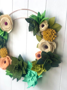 Handmade Succulent Wall Hanging Wreath