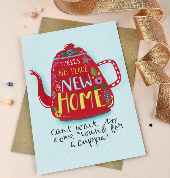 No place like a new home kettle folk card