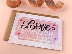 Love Coupon valentines and love card