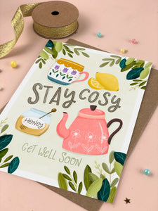 Stay Cosy Get Well Card