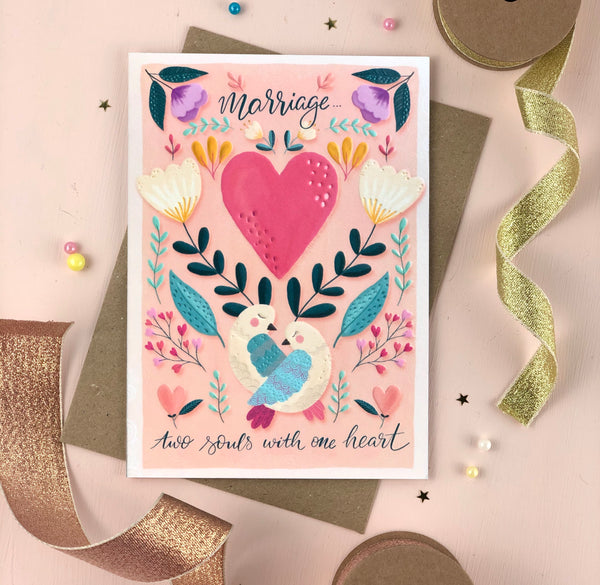 Two Souls wedding card